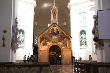 Porziuncola, also called Portiuncula (in Latin) or Porzioncula, is a small Catholic church located within the Papal Basilica of Saint Mary of the Angels in Assis