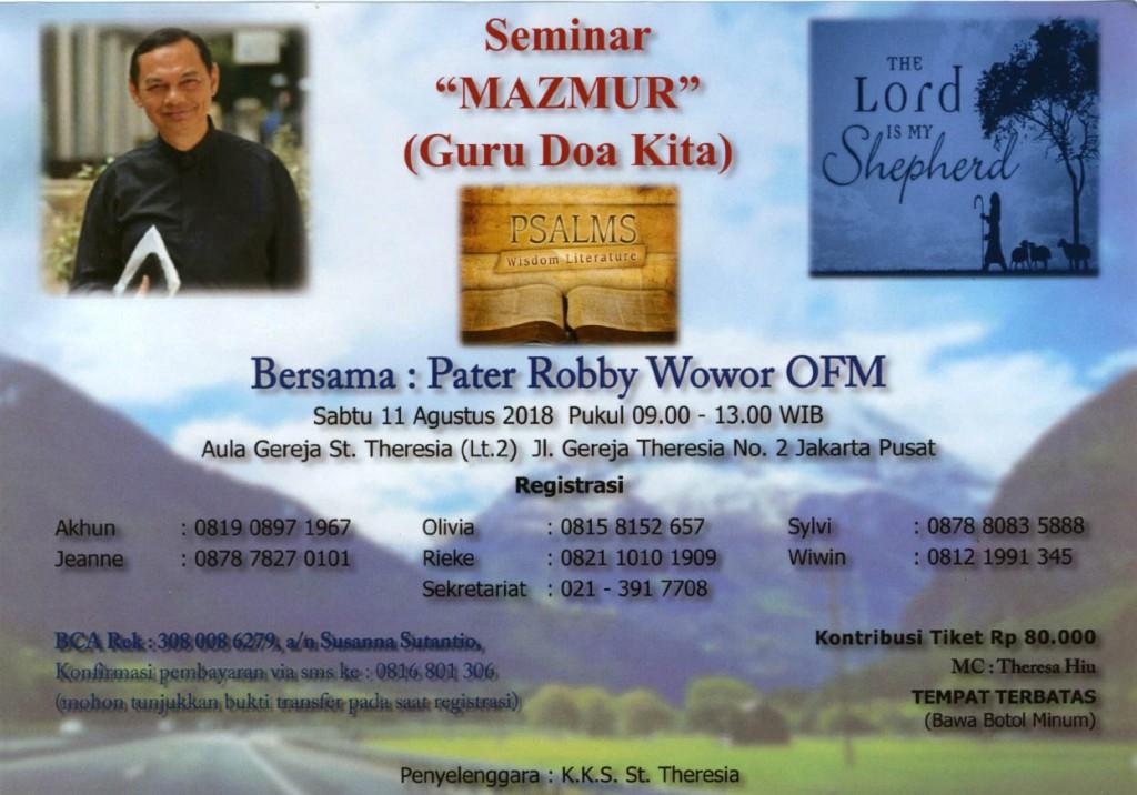 Seminar Mazmur Agustus