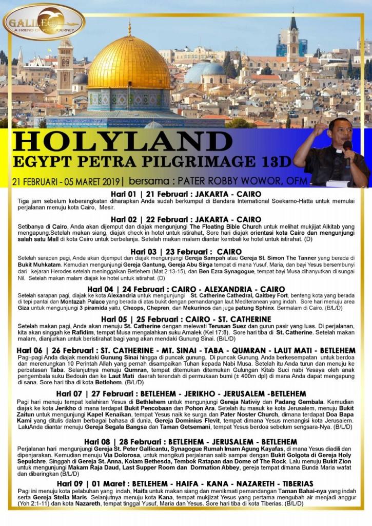 Holyland-Egyp-Petra 12 D Febuari-Maret 2019-1-2