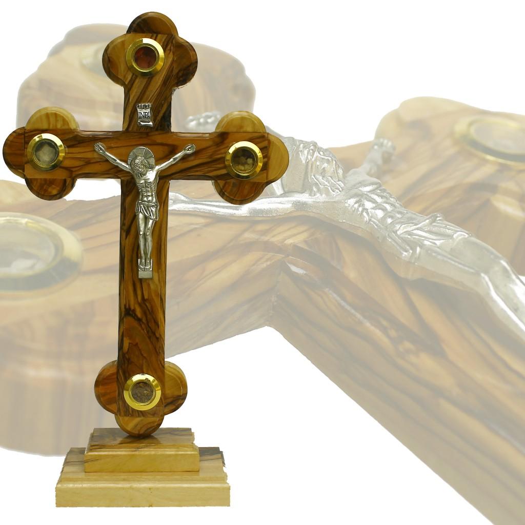 SD 005-Salib Duduk Sedang Jerusalem dengan relique